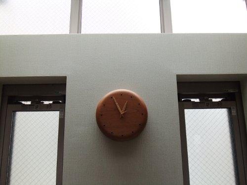 ケヤキの時計