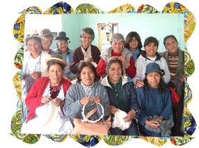 ペルーのベビーアルパカの編み子さん