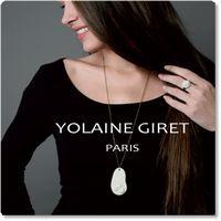 【YOLAINE GIRET PARIS(ヨレーヌ・ジレ・パリ)】リモージュポーセリンのアクセサリー(ジュエリー)