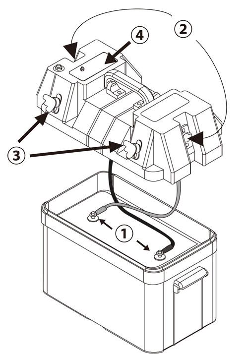 バッテリーコントロールボックスの特徴部分の詳細