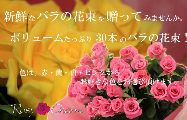バラの花束 30本