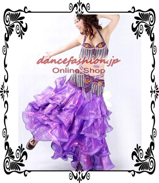ベリーダンス衣装 セットアップコスチューム7 \8900 パープル