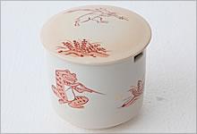 茶こし受け 鳥獣戯画 陶器|大