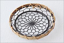 コースター 銅(黒メッキ)×竹|黒