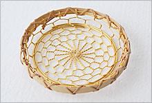 コースター 銅(金メッキ)×竹|金