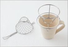 手編みコーヒードリッパ—|ステンレス(小 1〜2杯用)