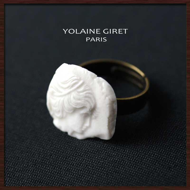 カメオリング YOLAINE GIRET ネックレス