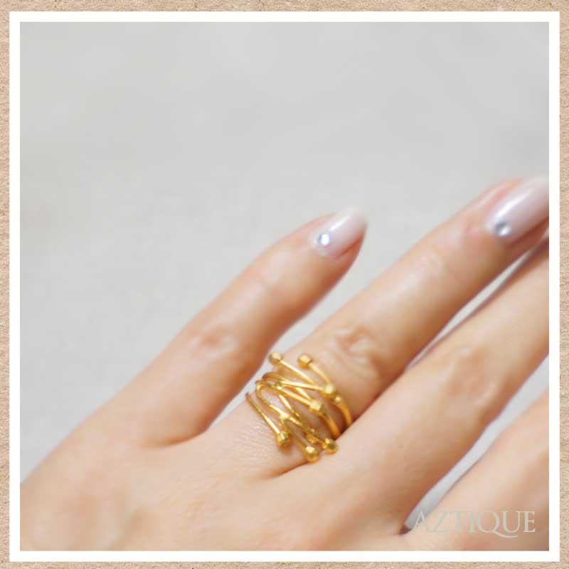 アズティークリング(指輪)ゴールド